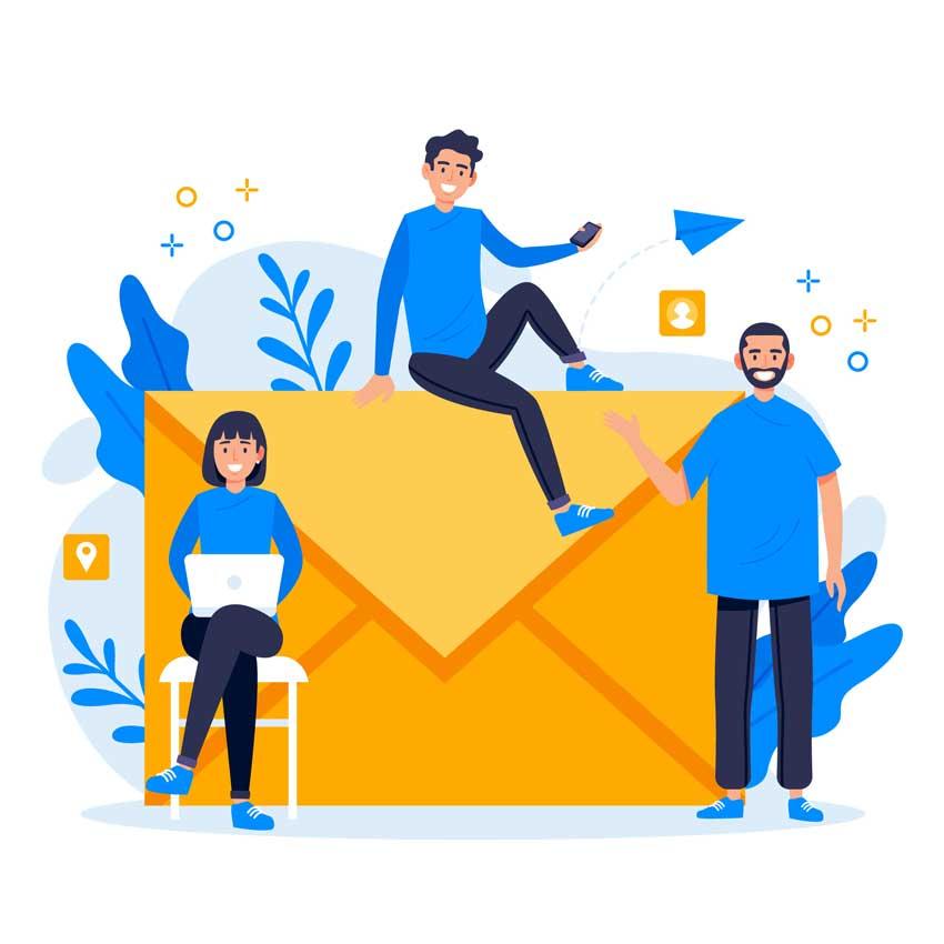 طراحی صفحه ایمیل مارکتینگ